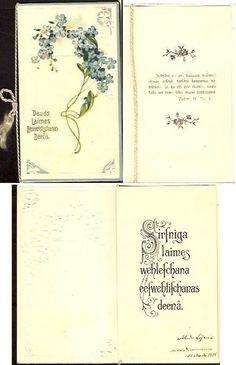 RUSSIA LATVIA Confirmation Vintage Postcard 1908 Unposted #4 #Confirmation