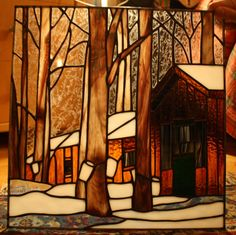 Sugar Shack Stained Glass Panel - Custom. $325.00, via Etsy.