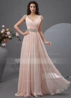 JenJenHouse Prom Dresses. http://www.dressfirst.es/Corte-A-Princesa-Escote-En-V-Hasta-El-Suelo-Chifon-Tul-Vestido-De-Baile-De-Promocion-Con-Volantes-Bordado-Lentejuelas-018022748-g22748