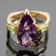 Ametistisormus, kultaa, 14k. Heart Ring, Rings, Jewelry, Jewlery, Jewerly, Ring, Schmuck, Heart Rings, Jewelry Rings
