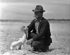 The first refugee manager, Paul Kroegel. This photo was taken in 1907 and shows Paul with the bird that the refuge was named after. Pelican Island National Wildlife Refuge which was opened in 1903. He was also our first volunteer in the United States! God Bless him!