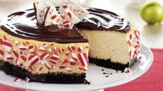 Double-Chocolate Peppermint Cheesecake