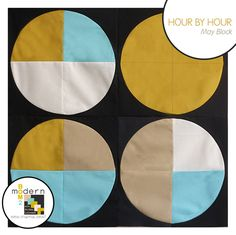 "Modern Block of the Month (BOM) Sew-Along: May ""Hour by Hour"" Block by Alyssa Lichner of Pile o' Fabric 