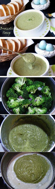 Cream of Broccoli Soup | Healthy No Cream Soup Recipe