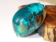 capsula de mar, conchas, resina y madera, fondo marino, ecologico, hecho a mano, artesania, madera y resina, madera reciclada, luminoso