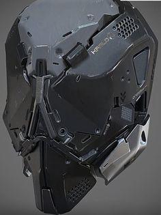 Sci-Fi Military Helmet.