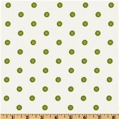 green - Daisy Dance Spiral Dots White/Lime