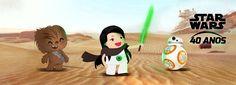 Arte para capa de facebook com a temática Star Wars, para o Olhar Digital