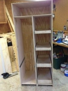 diy-freestanding-pantry-with-pullout-drawers-diy-drawers-freestanding-pantry-pantryred/ - The world's most private search engine Kitchen Pantry Design, Kitchen Pantry Cabinets, Pantry Diy, Small Pantry Cabinet, Furniture Plans, Diy Furniture, Furniture Stores, Furniture Design, Diy Storage Cabinets