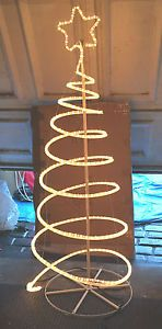 Led clear spiral christmas tree silhouette light christmas ideas diy whit xmas lights aloadofball Images