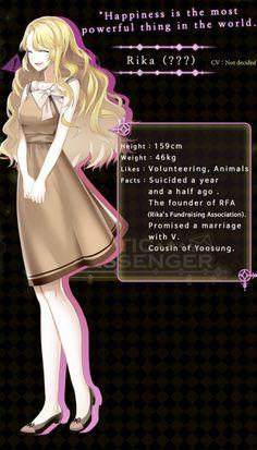 Mystic Messenger Rika (eww)