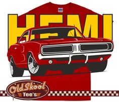 52f9108e mens t shirt Dodge Charger Muscle Car Hot Rod Hemi Mopar Pony Retro Red Hot  Rods