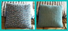 Free 2 Toned Crocheted Bamboo Pillow Pattern.