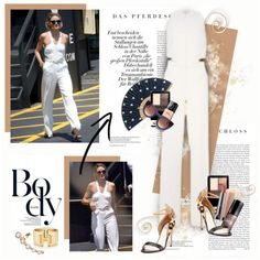 How To Wear The white jumpsuit - Olivia Palermo Outfit Idea 2017 - Fashion Trends Ready To Wear For Plus Size, Curvy Women Over 20, 30, 40, 50