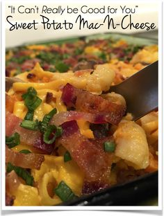 This healthy, gluten free, dairy (lactose) free Sweet Potato Mac-N-Cheese tastes so creamy and decadent it couldn't possibly be GOOD for you-- but it is! There's two servings of vegetables!