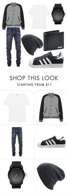 """Men's Casual"" by tinag2496 ❤ liked on Polyvore featuring Acne Studios, L.L.Bean, Balmain, adidas Originals, Diesel, BOSS Hugo Boss, men's fashion and menswear"
