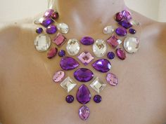 Purple Floating Rhinestone Statement by SparkleBeastDesign on Etsy, $32.99