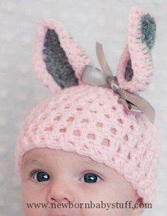 Crochet Baby Hats Easter Crochet Baby Hat via DaWanda - Mum can you crochet th...