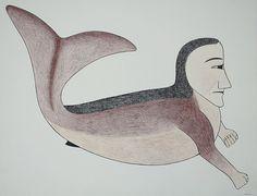 Untitled (Sedna) Kenojuak Ashevak Cape Dorset, 1991 Graphite, Coloured Pencil, Pentel Pen