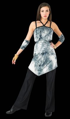 StylePlus Double Cut-out Tunic - Would look better without tie-dye