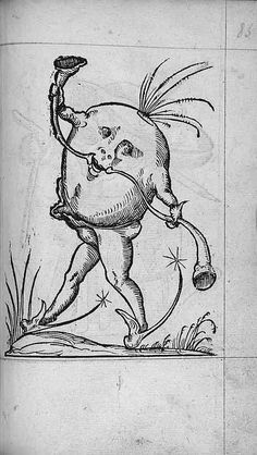 François Desprez,   f. F6 Dessin 85  Les Songes drolatiques de Pantagruel  A Paris : Par Richard Breton 1565