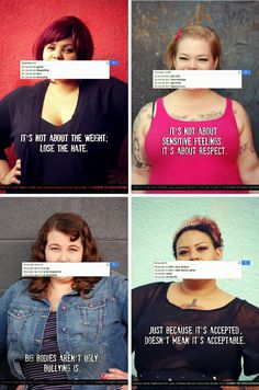 The Militant Baker: FAT HATE is no more valid than any other hatred Body Love, Loving Your Body, Positive Body Image, Positive Vibes, Body Shaming, Fett, Human Rights, Bullying, Equality