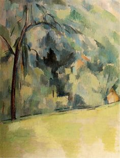 MODERN ART Morning in Provence by Paul Cezanne. Impressionism to Projectionism in the Century.Style of Art in Painting by Esteban Simich. Cezanne Art, Paul Cezanne Paintings, Art Gallery, Paul Gauguin, Kandinsky, French Artists, Renoir, Art World, Art History