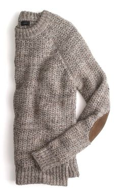 style, elbow patches, knit sweaters, j crew, sweater weather, men's clothing, alpaca, jcrew, cozy sweaters