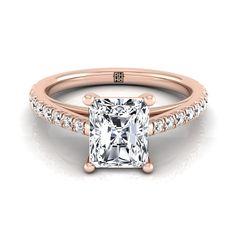 Classic 4 Prong Radiant Cut Diamond Engagement Ring In Yellow Gold Ct. Radiant Cut Engagement Rings, Rose Gold Engagement Ring, Wedding Engagement, Wedding Rings, Radiant Cut Diamond, Bridal Jewelry, Fashion Jewelry, Jewels, Classic