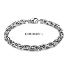 Silber Twisted Armkette Edelstahl Armband Armschmuck Damen Herren Geschenk