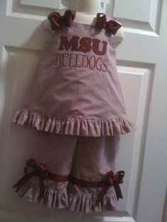 Mississippi State Bulldogs Baby Layette Gown Mississippi State