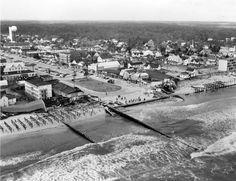 Rehoboth Beach boardwalk after the Storm of 1962