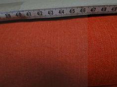 Denim stof oranje, ca 140cm breed. Perfect voor kinderkleding, broeken of decoratie. Bestel eenvoudig online! - Bas Bastiaans