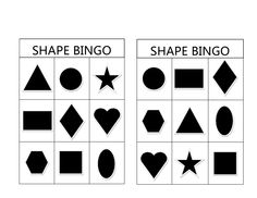Shape Bingo is a fun and easy preschool activity to promote shape recognition