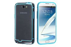 Transparent Bumper Frame Over mold Hybrid Cases for Samsung Galaxy Note 2 | Lagoo Tech