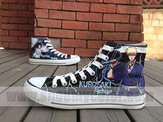 Bleach anime shoes converse sneaker