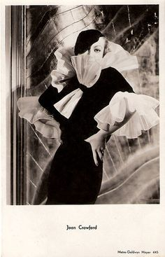 Vintage Style Icons: Adrian - MGM's Costume Designer Extraordinaire Joan Crawford in a gown by Adrian