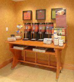Coffee carafes- self serve coffee bar