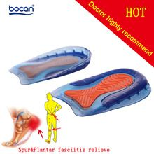 the best Bocan insole rearfoot stickers sports shock absorption silica gel insole heel