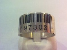 Anello Fascia Bar Code Inciso Laser   Trampos