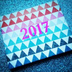 Neujahrskarte als Leporello mit Prägung