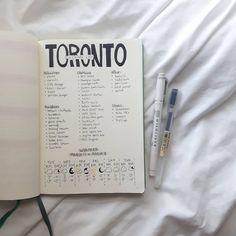 Bullet journal travel planner. | @bullet.bees