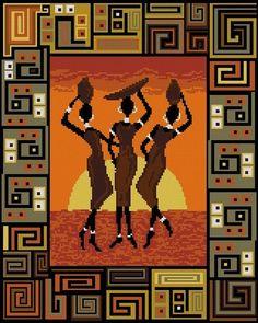 """África - Esquemas bordado - milas51 - Autores - Portal """"Cross Stitch"""""""