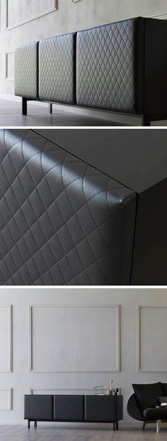 Das Highlight Des Sideboard Mademoiselle Von Miniforms Ist Die Mit Leder  überzogene Front. #Sideboard