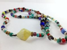 Mixed Bead Necklace Colorful Necklace Colorful by OpenHeartOneLove