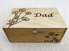 Mini Wooden Chest with Rose Motif Small Wood Box decorated Wooden Photo Box, Wooden Memory Box, Wooden Storage Boxes, Wooden Boxes, Personalised Wooden Box, Small Wood Box, Unique Gifts For Dad, Wooden Chest, Christening Gifts