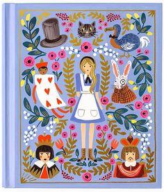 The Frivolous Bibliophile: Rifle Paper Co. 150th Anniversary Lewis Carroll Alice in Wonderland Puffin Hardback Classi