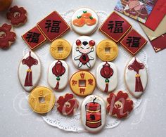 Chinese New Year Cookies  www.tablescapesbydesign.com https://www.facebook.com/pages/Tablescapes-By-Design/129811416695