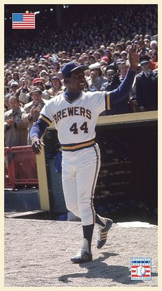 Hank Aaron, Milwaukee Brewers, Baseball Cards, Sports, Hs Sports, Excercise, Sport, Exercise