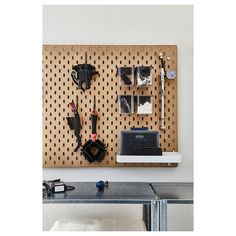 You can store things on both sides of the pegboard if you use it as a divider on a desk or in a freestanding ALGOT storage combination. Choose the accessories from the SKÅDIS series that suit your needs and create a personal storage combination. Office Storage, Wall Storage, Ikea Skadis, Ikea Canada, Algot, Personal Storage, Recycling, Spice Organization, Wood